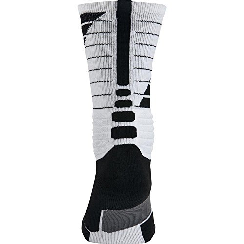 Nike Hyper Elite cushioned Socks 4-6 Women's 3Y - 5Y Youth black white SX5138-101 (Customized Nike Elites compare prices)