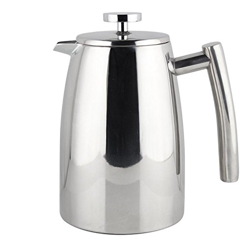 Elegant French Coffee Press Stainless Steel Insulated Double Wall with Spare Screen 8 cup 1 Liter (34oz)
