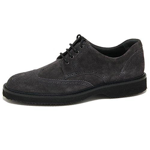 2039O scarpa allacciata HOGAN ROUTE DERBY grigio/blu scarpe uomo shoes men [6.5]
