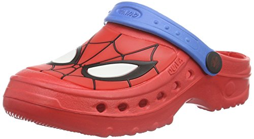 spidermanboys-kids-clog-sandals-and-mules-zoccoli-bambino-rosso-rot-red-cblue-605-25-26
