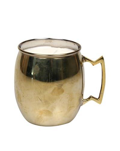 Jodhpuri 12-Oz. Coconut Cove Moscow Mule Mug Candle, Copper/White