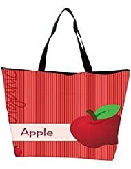 Snoogg Bright Organic Red Apple Card In Vector Format Waterproof Bag Made Of High Strength Nylon