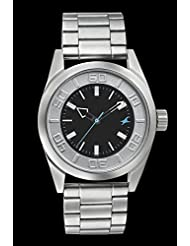 Fastrack Silver/Black Dial Men's Analog Watch - 3126SM01