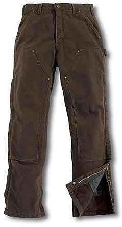 Carhartt Men's Sandstone Quilt Lined Work Pants Dark Brn 32W x 32L