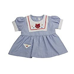 VedVid Soft Fabric Beautiful Trendy Stripes Frock For New Born