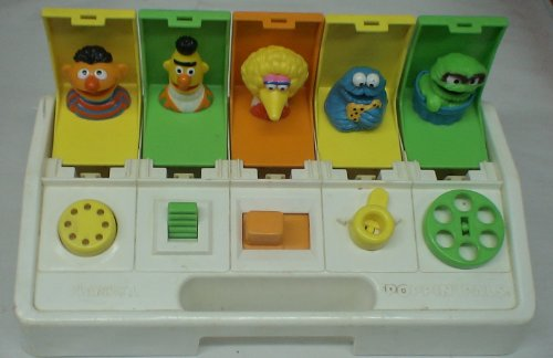 Vintage 1980s Sesame Street Poppin' Pals Toy - 1