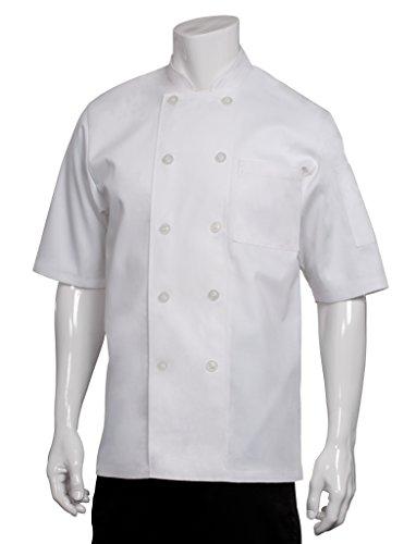 Chef Works PCSS Volnay Short Sleeve Basic Chef Coat, White, Medium (Chef Coat Short Sleeve compare prices)