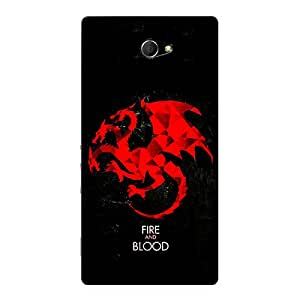 Jugaaduu Game Of Thrones GOT House Targaryen Back Cover Case For Sony Xperia M2