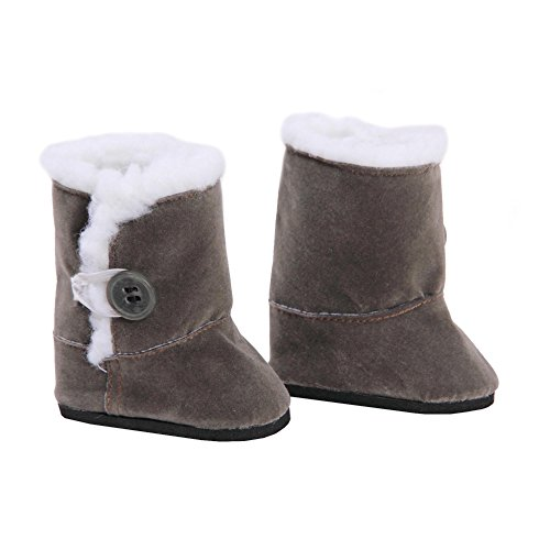 Toy Doll Clothes - Gray Suede Style Boots