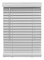 Nien Made Usa 3564FWW Mini Blinds, White Fauxwood, 2 x 35 x 64-In. - Quantity 2
