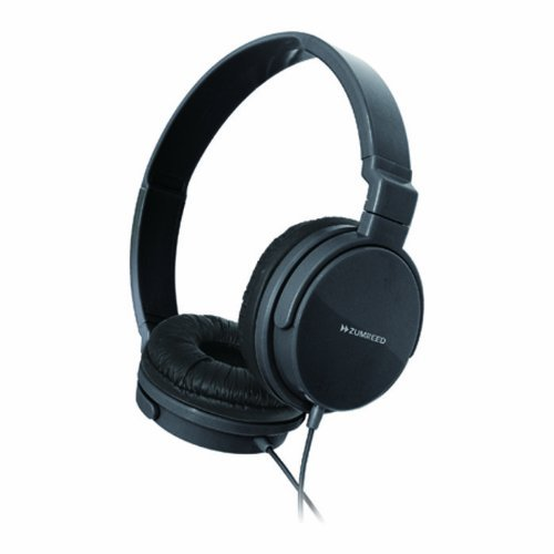 Zumreed Zhp-018 Metro Color Rich Foldable Stereo Headphones, Black