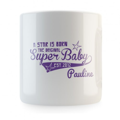 A Star is Born the original Super Baby (mit individuellem Namen) Spardose, Druckfarbe:lila