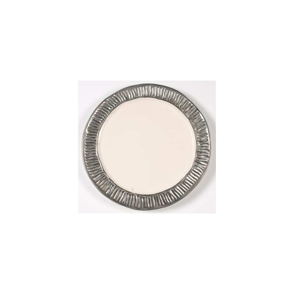 Michael Wainwright Coil Platinum Dinner Plate, Fine China Dinnerware