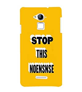EPICCASE Stop d Non-sense Mobile Back Case Cover For CoolPad Note 3 (Designer Case)