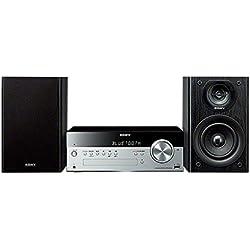 Sony CMT-SBT100 - Microcadena de 50W (50 W, CD, FM/AM, Bluetooth, NFC, USB, estéreo), Negro y Plateado