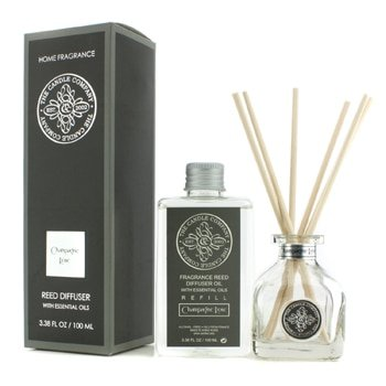 The Candle Company Reed Diffuser With Essential Oils - Champagne Rose- 100ml/3.38oz