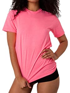 Karma Fit Unisex Poly-Cotton Short Sleeve Crew Neck (Neon Heather Pink)