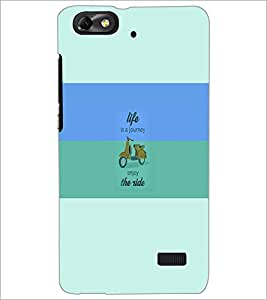 PrintDhaba Quote D-5942 Back Case Cover for HUAWEI HONOR 4C (Multi-Coloured)
