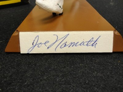 1992 Salvino Collection Joe Namath Signed Jets Figurine Serial #D /368 Auto - Autographed NFL Figurines