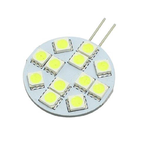 Boat Car White G4 5050 Smd 12 Led Side Pin Spotlight Lamp Bulb Dc Ac 12V