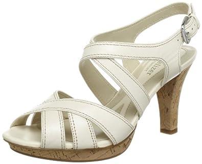 Naturalizer DHANI B6562L1251 - Sandalias fashion de cuero para mujer, color blanco, talla 37