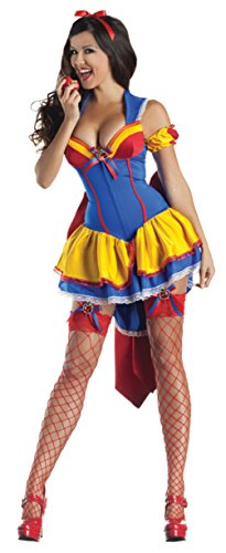 Party King Womens Poison Apple Body Shaper Outfit Fancy Dress Sexy Costume
