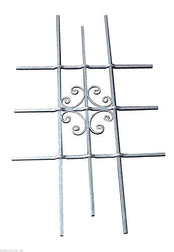 """deutsche Metall Fenstergitter Sicherheitsgitter Fenster feuerverzinkt """"Luna"""" 1140 x 690 mm"""