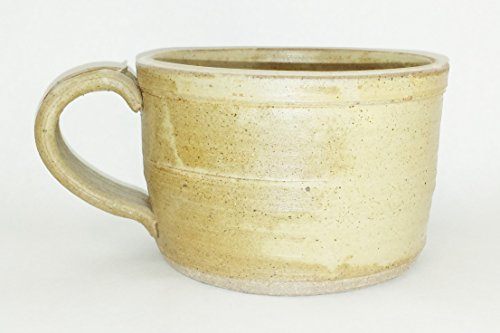 Aunt Chris' Pottery - Hand Made Clay - Soup Bowl - With Handle - You Can Spoon It Out - Drink It Right Of The Bowl - Goats Milk Glazed - Microwave, Oven And Dishwasher Safe (Mud Pot Cookware compare prices)