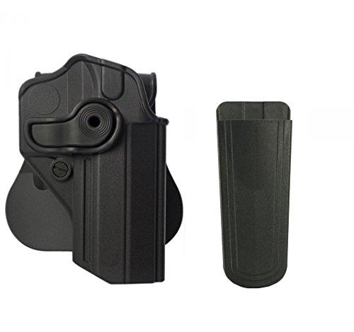 IMI Defense Z1270 Polymer 360° Rotate Holster Jericho/Baby-Eagle 9mm/.40 Sarsilmaz Kilinc Mega 2000 Canik 55 Shark Right Hand, Black +