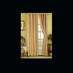 Editex 627V9514 95 inch Elaine Faux Silk Panel with Grommets in Gold