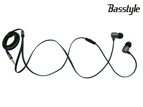 Ti-87F Basstyle Quality Noodles Earphone Earbud Earpiece Headphone Headset With Durable Flat Cable And In-Line Mic Fit For Tablet Mp3 Psp Iphone Samsung Galaxy Blackberry Motorola Htc Huawei Lg Nokia With Best Bass Clear Sound