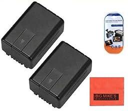 Pack Of 2 VW-VBK180 Batteries for Panasonic HC-V10 HC-V100 HC-V500 HC-V700 Camcorder + More!!