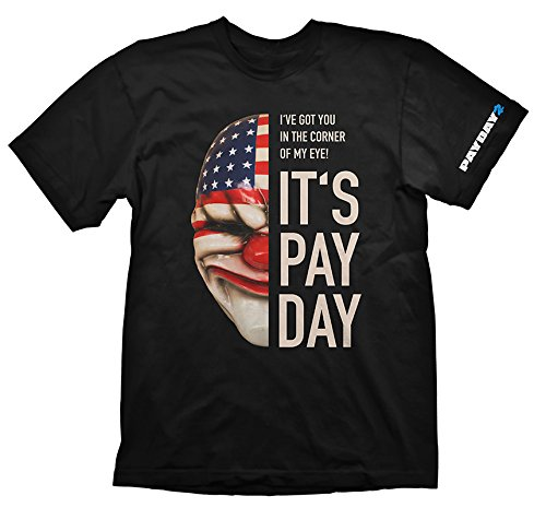 Payday 2 Dallas Mask T-Shirt nero XXL