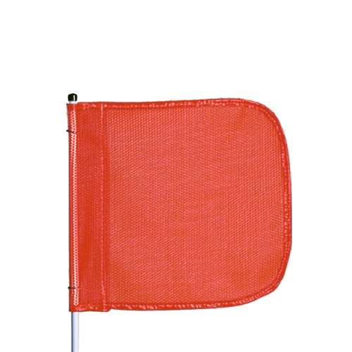 """Flagstaff FS8-QD-O Fiberglass Heavy Duty Quick Disconnect Warning Whip without Light, Orange, 8' Whip Length, 12"""" x 11"""" Flag"""