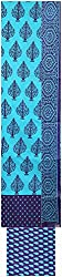 Priyal Art Woman's Cotton Dress Material (PA-47, Blue)