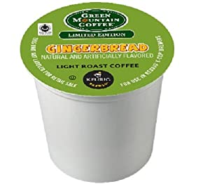 Green Mountain Coffee Fair Trade Gingerbread, 24-Count K-cups