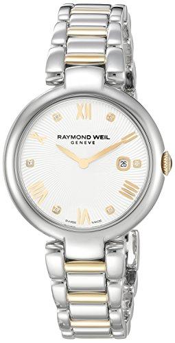 raymond-weil-shine-damen-armbanduhr-32mm-armband-zweifarbiger-edelstahl-zwei-ton-quarz-1600-stp-0061