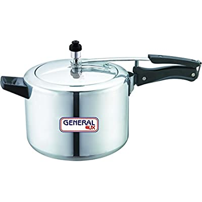 General AUX Pressure Cooker Induction Base Bottom Aluminium 5 Ltr