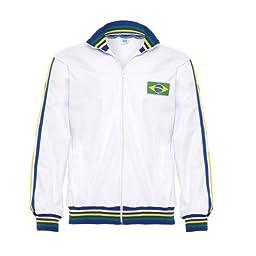 Jlsport White Capoeira Zipped Jacket Brasil Tracksuit Jumper Man Top Long Sleeve
