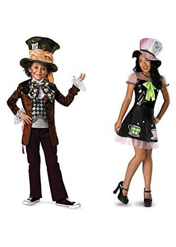 [Mad Hatter Big Boys And Big Girls Costumes] (Mad Hatter Costume Kids Girl)