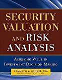 img - for Security Valuation and Risk Analysis : Assessing Value in Investment Decision Making (Hardcover)--by Kenneth S. Hackel [2010 Edition] book / textbook / text book