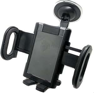 Universal Car Mount Holder (Black) (Latest Cigar Lighter Plug Holder with Dual USB Port, Search ASIN: B00MINMK9G)