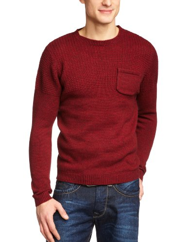 Selected Homme Django Crew Neck T Men's Jumper Syrah Melange X-Large