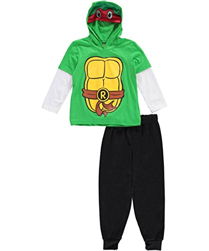 "TMNT Little Boys' Toddler ""Raphael Raider"" 2-Piece Outfit with Mask"