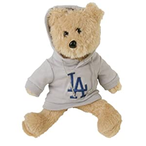 MLB Los Angeles Dodgers 8'' Fuzzy Hoodie Bear