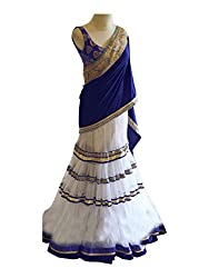 Rudraksh Fashion Women's Net Lehenga Choli