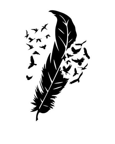 ZZ-Ambiance-sticker Vinilo Decorativo Design Feather & Birds