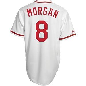 Majestic Athletic Cincinnati Reds Joe Morgan Replica Cooperstown Home Jersey by Majestic Athletic
