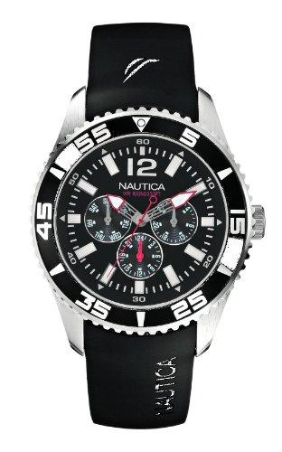 Nautica A12022G - Orologio da polso uomo, resina, colore: nero