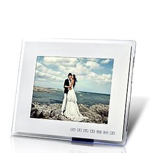 Cadre photo numerique 12 pouces et lecteur multimedia - Blanc